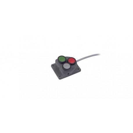 Przycisk kasowania ( reseter ) 3-przyciskowy, plastik, IP67, uniwersalne
